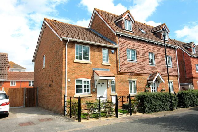 Thumbnail End terrace house to rent in Emerald Crescent, Sittingbourne