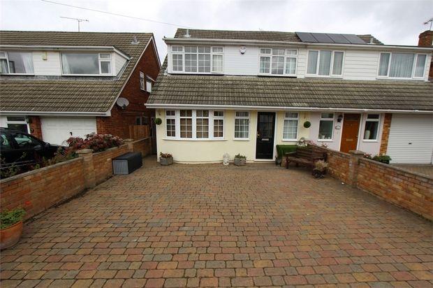 Thumbnail Semi-detached house for sale in 15 Borrowdale Close, Benfleet, Essex