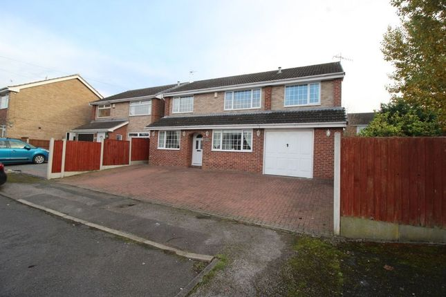 Thumbnail Detached house for sale in Hackworth Close, Newthorpe, Nottingham