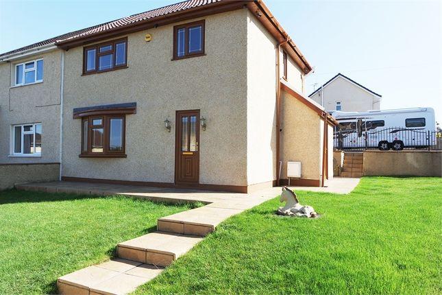 Thumbnail Semi-detached house for sale in Heol-Y-Berllan, Pyle, Bridgend, Mid Glamorgan