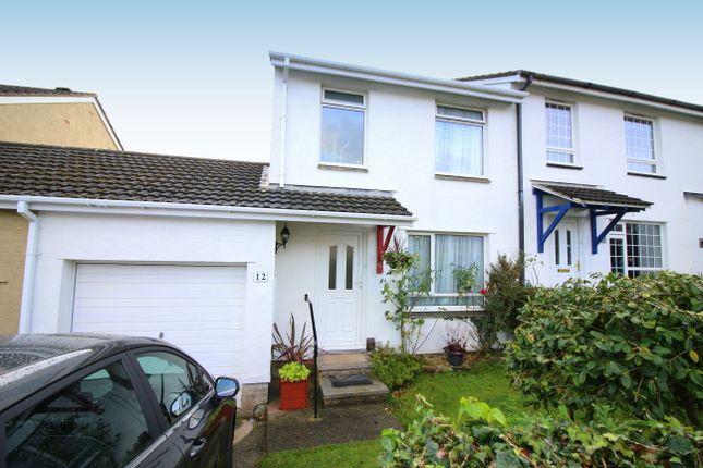 Thumbnail Semi-detached house for sale in Hawks Park, Lower Burraton, Saltash