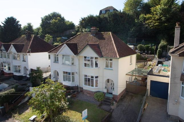 Thumbnail Semi-detached house for sale in Occombe Valley Road, Preston, Paignton