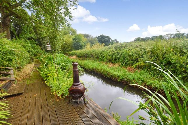 Decking On River of Rewe Court, Rewe, Exeter, Devon EX5