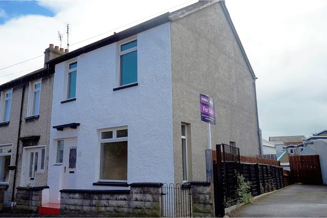 Thumbnail End terrace house for sale in Primrose Street, Bangor