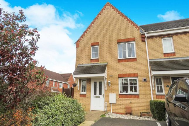 Thumbnail End terrace house to rent in Brunel Drive, Biggleswade
