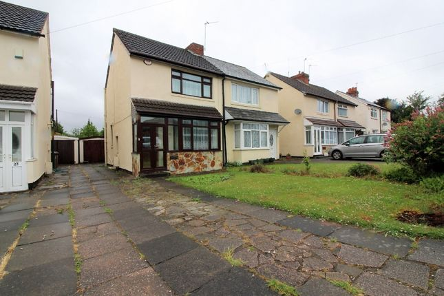 Thumbnail Semi-detached house for sale in Lucknow Road, Willenhall