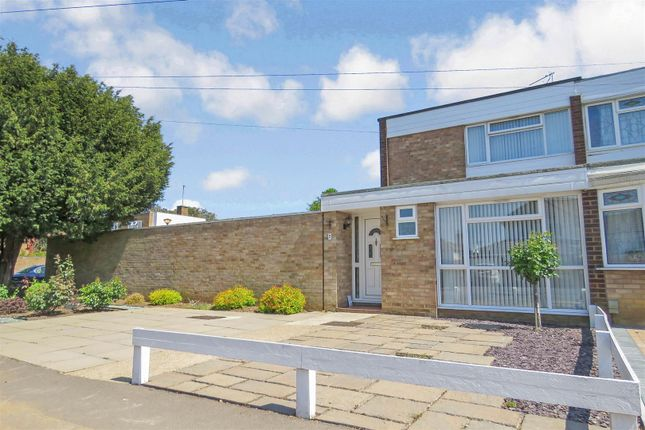 Thumbnail End terrace house for sale in Dells Lane, Biggleswade