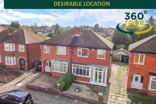 Thumbnail 3 bed semi-detached house for sale in Deancourt Road, West Knighton, Leicester