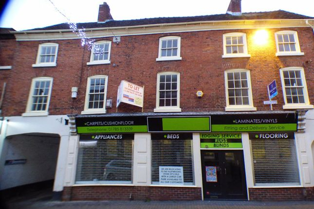 Thumbnail Flat to rent in High Street, Stone, Staffordshire