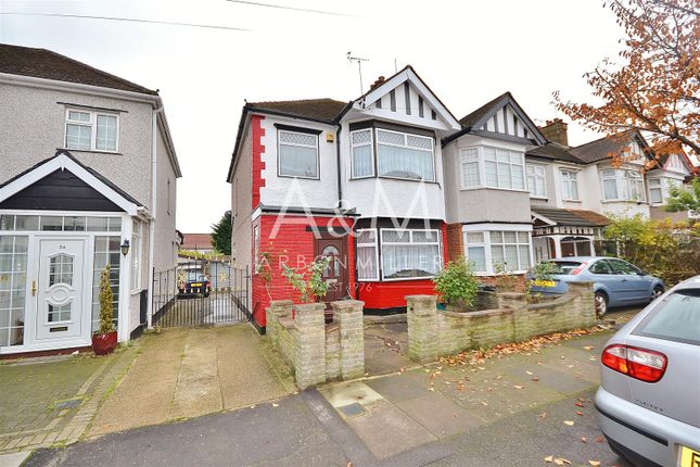 Thumbnail End terrace house to rent in Brockham Drive, Ilford