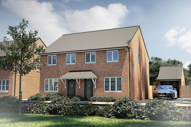 "Thumbnail Semi-detached house for sale in ""The Studland"" at Roman Road, Bobblestock, Hereford"
