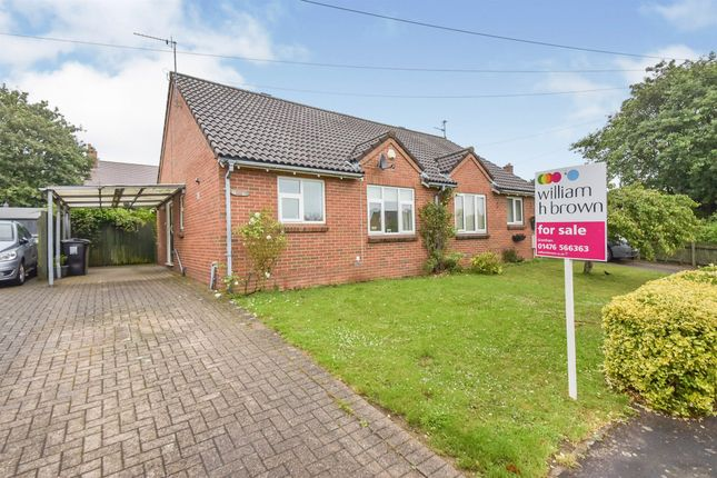 Thumbnail Semi-detached bungalow for sale in Bourne Road Estate, Colsterworth, Grantham