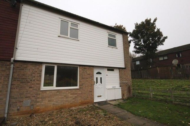 Thumbnail End terrace house for sale in South Holme Court, Thorplands, Northampton