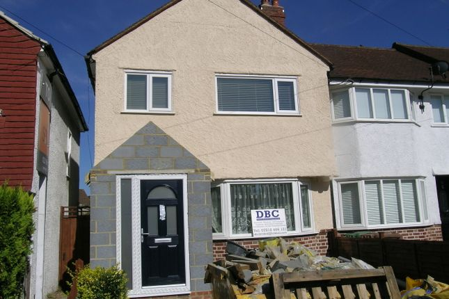 Thumbnail End terrace house to rent in Buckland Way, Worcester Park, Surrey