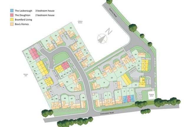 Site Layout of Quercus Grange, Tetbury, Gloucestershire GL8