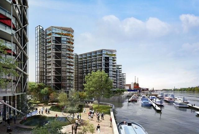 Thumbnail Flat to rent in Riverlight Quay, Nine Elms, London