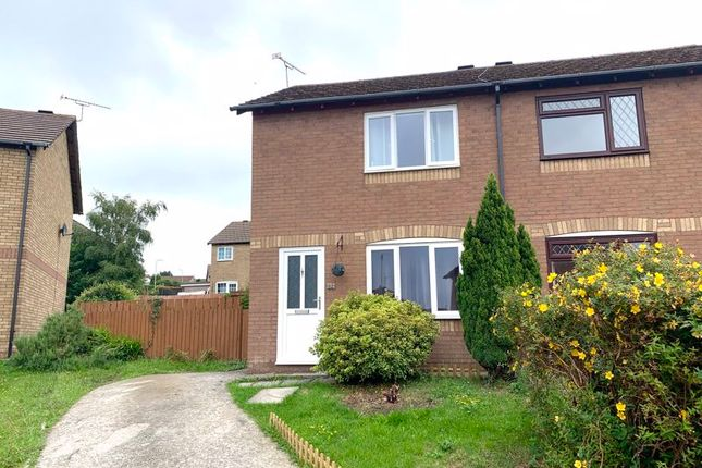 Thumbnail End terrace house to rent in Robins Hill, Brackla, Bridgend