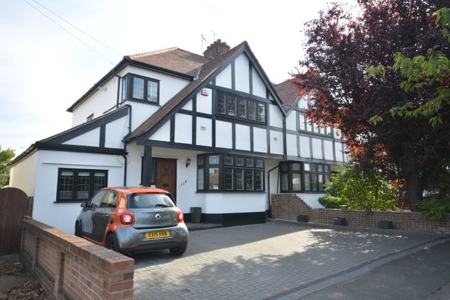 Thumbnail Semi-detached house for sale in Squirrels Heath Road, Harold Wood