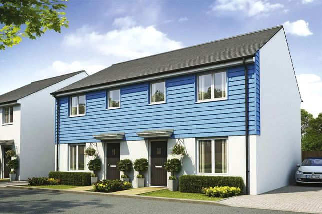 Thumbnail Semi-detached house for sale in Liskey Hill, Perranporth