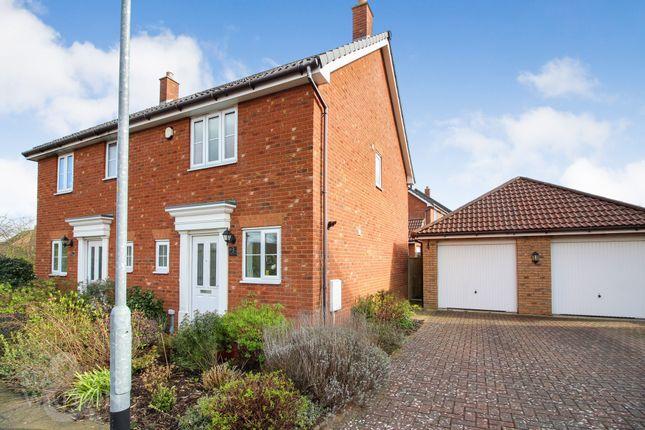 Thumbnail Semi-detached house to rent in Evora Road, Wymondham