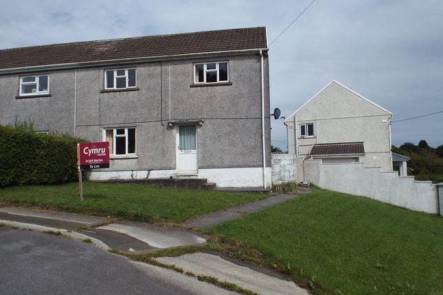 Thumbnail Semi-detached house to rent in Heol Yr Ysgol, Cefneithin, Llanelli