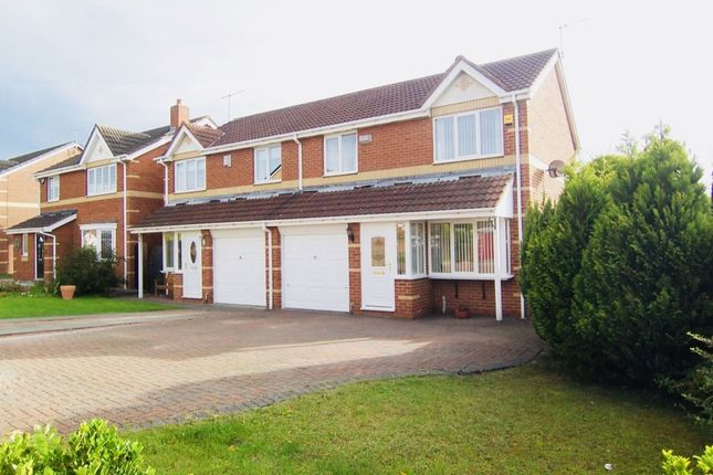 Thumbnail Semi-detached house for sale in Denholm Avenue, Northburn, Cramlington