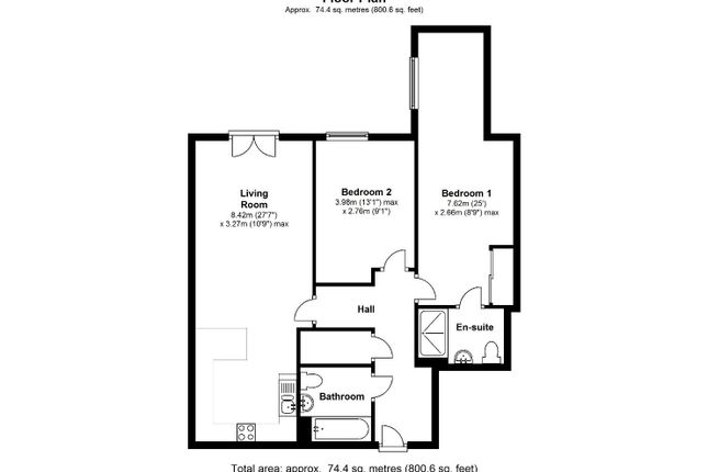 28 The Chimes 20 Vicar Lane S1 2Eh Floorplan
