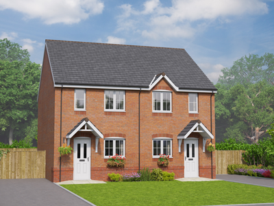 Thumbnail Mews house for sale in The Elwy, Plot 10, The Oaks, Rossmore Road East, Ellesmere Port, Cheshire