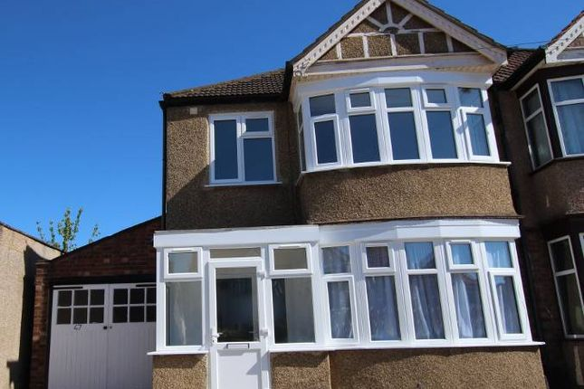 Thumbnail Semi-detached house to rent in Weald Lane, Harrow Weald, Harrow