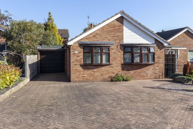 Thumbnail Bungalow for sale in Blenheim Crescent, Broughton Astley, Leicester