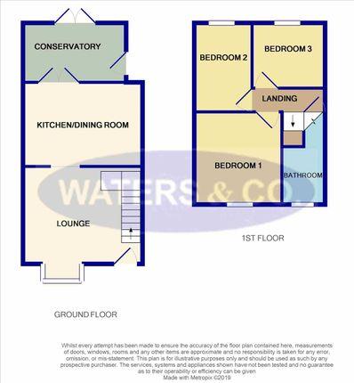 Floor Plan of Rose Road, Coleshill, Birmingham B46