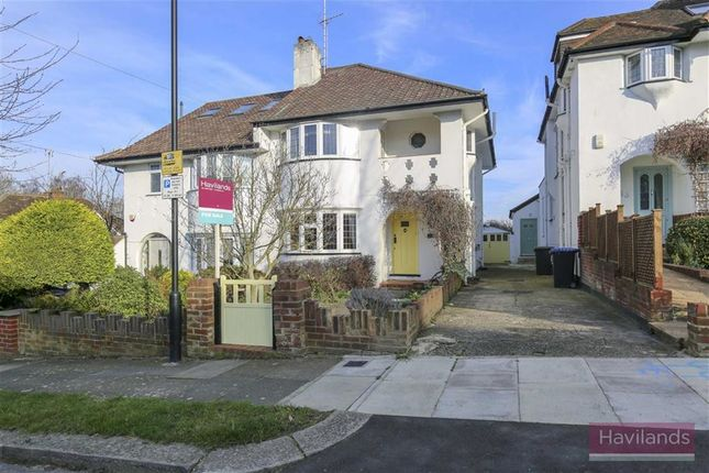 Thumbnail Semi-detached house for sale in Broadfields Ave, Winchmore Hill, London