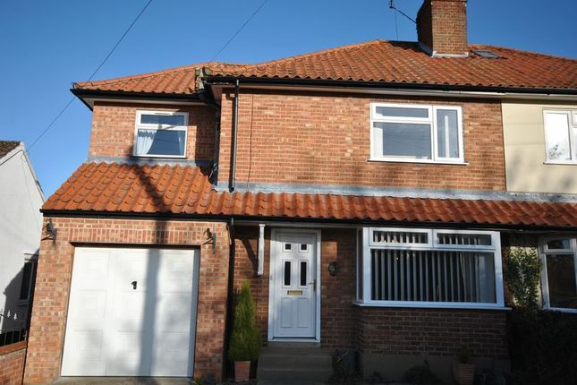 Thumbnail Semi-detached house for sale in Burma Road, Old Catton, Norwich