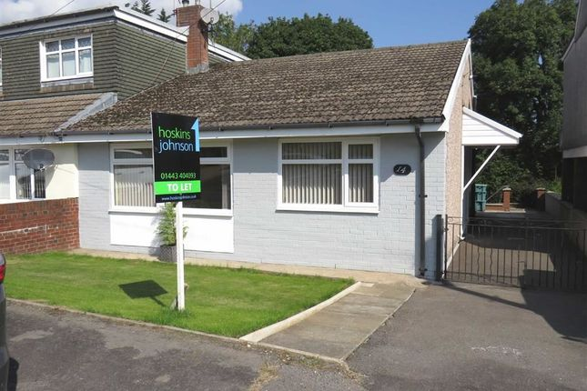 Thumbnail Semi-detached bungalow to rent in Westfield Road, Glyncoch, Pontypridd