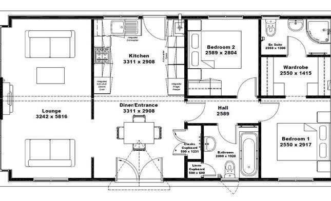 2 bed mobile/park home for sale in Wessex Park, Bullington Lane (Ref 5448), Sutton Scotney, Winchester