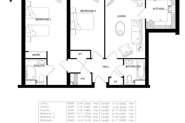 Floorplan. 22 of Harington Lodge, 117 The Hornet, Chichester, West Sussex PO19
