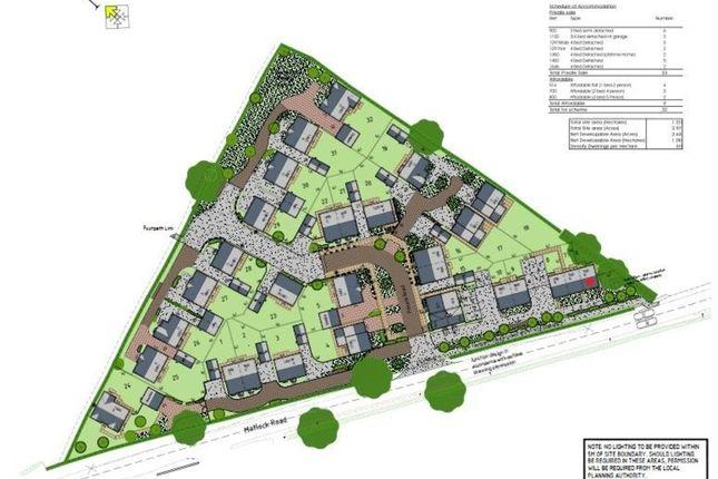 Thumbnail Town house for sale in Plot 6, Matlock Road, Wessington, Alfreton