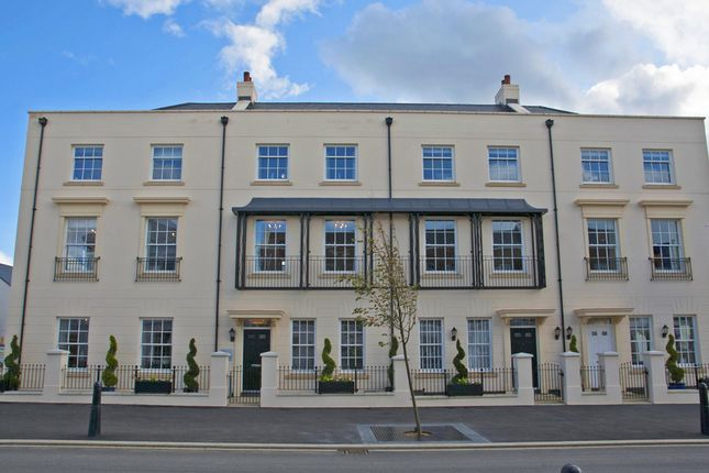 "Thumbnail Terraced house for sale in ""The Heybrook"" at Haye Road, Sherford, Plymouth"
