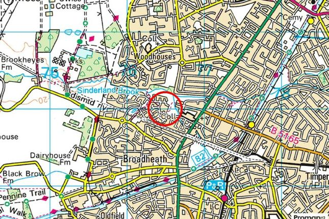 Town Plan of Delves Road, West Timperley, Altrincham WA14