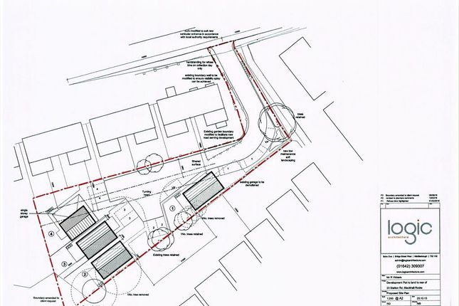 Thumbnail Land for sale in Station Road, Blackhall, Durham