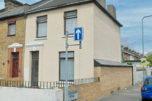Thumbnail End terrace house to rent in Grange Road, Ilford