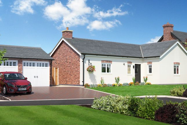 Thumbnail Detached bungalow for sale in Plot 9, Hunters Chase, Bryn Perthi, Arddleen