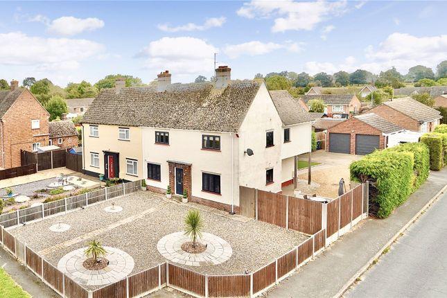 Thumbnail Semi-detached house for sale in Moorfield Way, Great Stukeley, Huntingdon