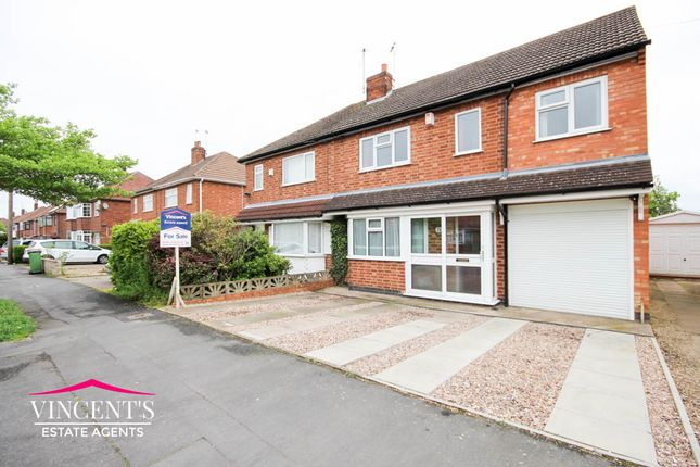 Thumbnail Semi-detached house for sale in Kings Drive, Leicester