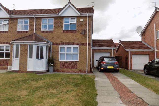 Thumbnail Semi-detached house for sale in Durham Close, Bedlington