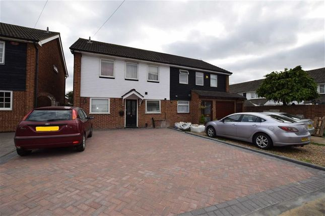 Thumbnail Semi-detached house to rent in Maytree Close, Rainham, Essex