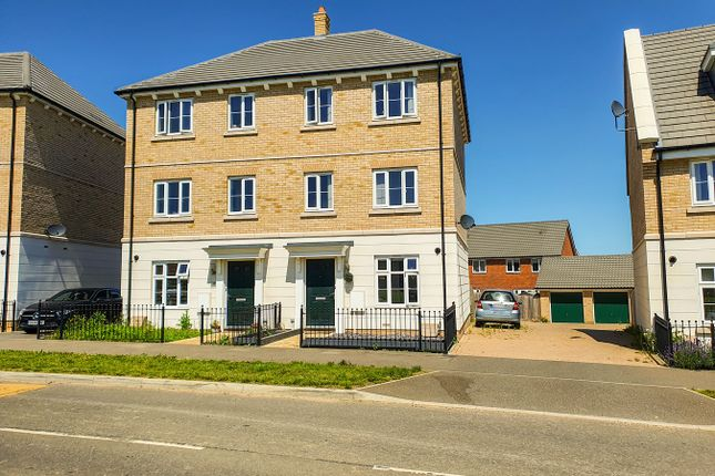 Thumbnail Town house for sale in Brooke Way, Stowmarket