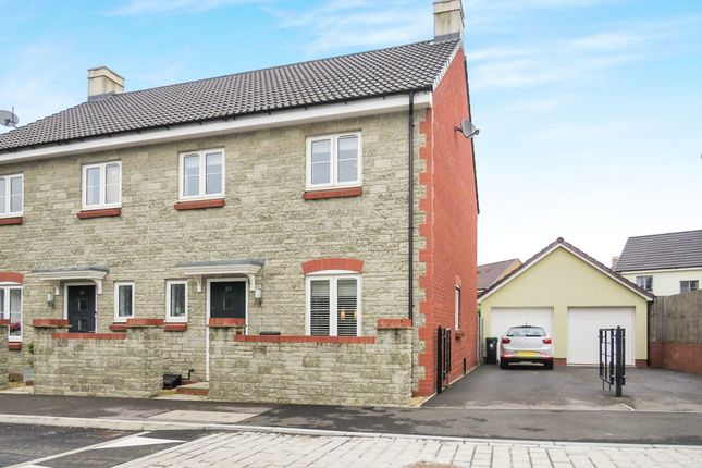 Thumbnail Semi-detached house for sale in Oxleigh Way, Stoke Gifford, Bristol