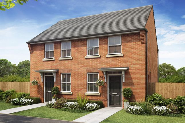 "Thumbnail Semi-detached house for sale in ""Wilford"" at Rush Lane, Market Drayton"