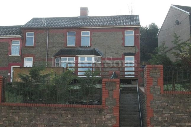Thumbnail End terrace house for sale in Pleasant View, Crumlin, Newport.